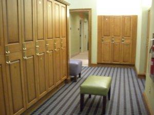 The locker room at The Lodge at Woodloch