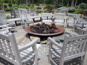 Fire circle at The Lodge at Woodloch
