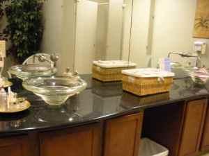 Vanity area at Visage