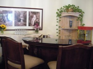Wine bar at La Tourelle