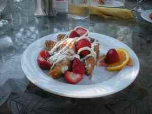 Oatmeal crusted French Toast at Simply Red Bistro La Tourelle