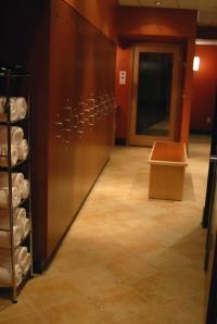 Women's locker room at Rasa Spa