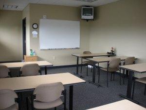 The classroom at ASI