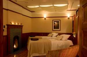 Couples treatment room at The Spa at Mohonk Mountain House