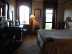 Victorian style guest room 567 at Mohonk Mountain House
